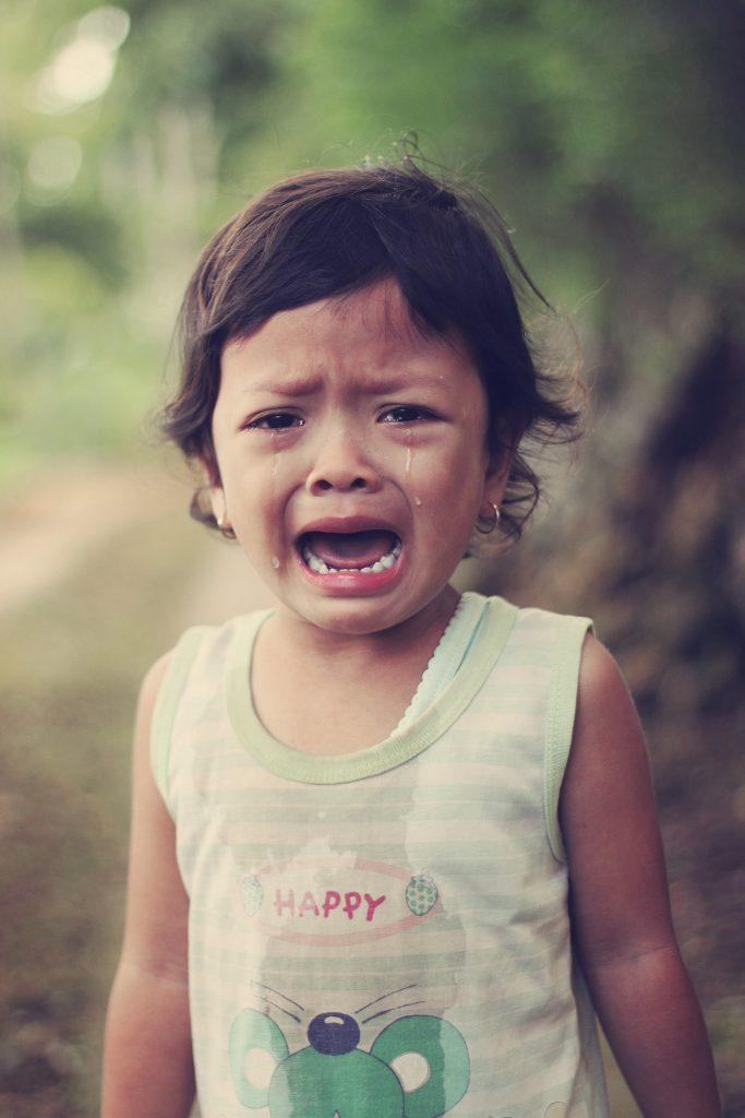 Child throwing tantrums